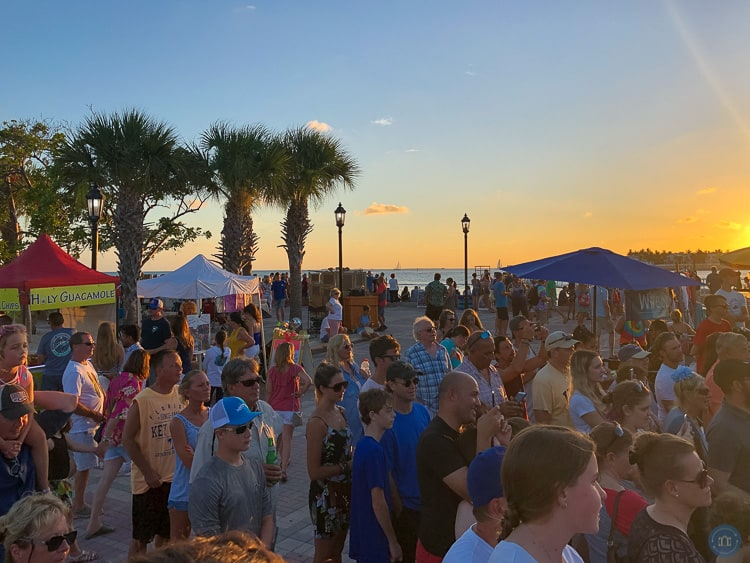 sunset celebration at mallory square in key west