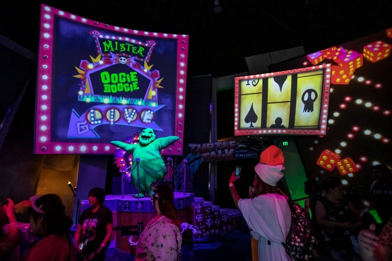 oogie boogie treat trail disneyland halloween party