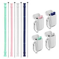 Reusable Silicone Collapsible Straws with Carrying Case