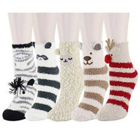 Fuzzy Cute Animals Warm Slipper Socks