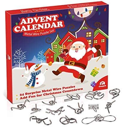 Metal Wire Puzzle Toys Advent Calendar