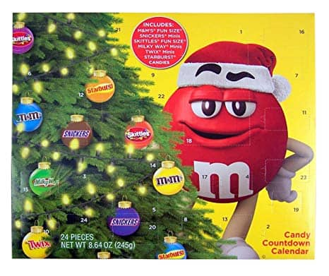 2019 Mars Christmas Advent Calendar with Assorted Candy