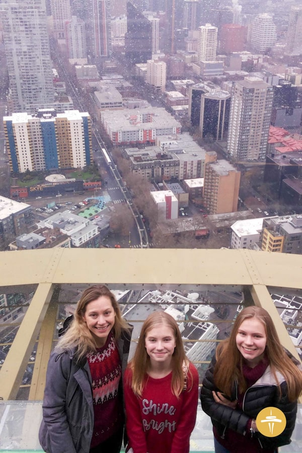 Photo on the Seattle Space Needle