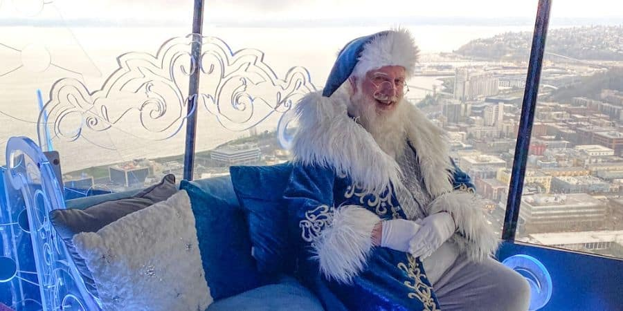 santa at the space needle