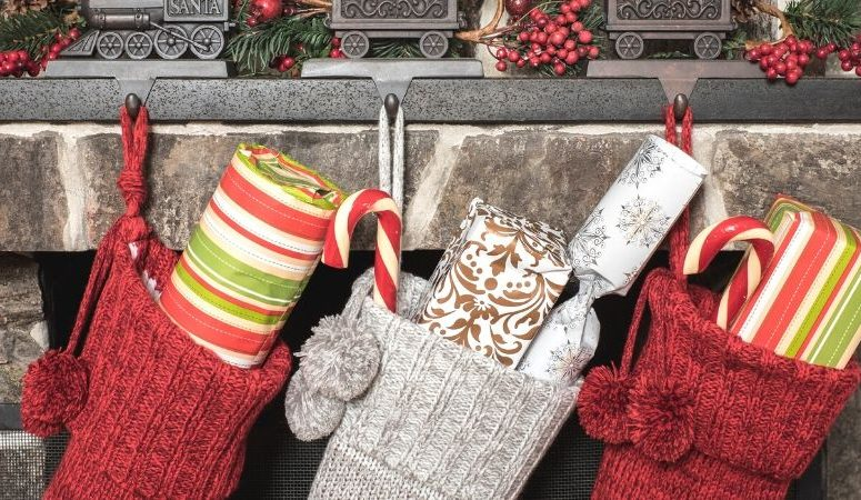 christmas stockings with gifts