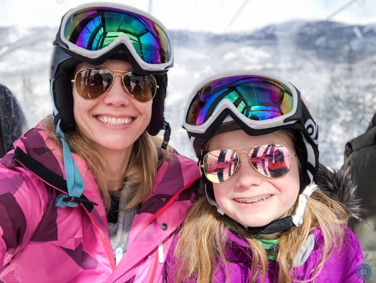 mother and daughter ski trip