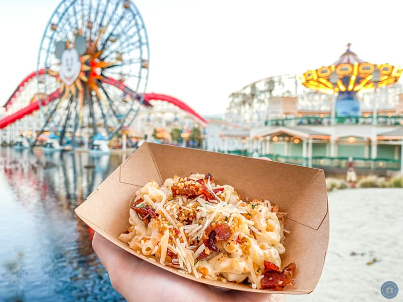 Bacon mac and cheese a Disney California Adventure Food and Wine Festival