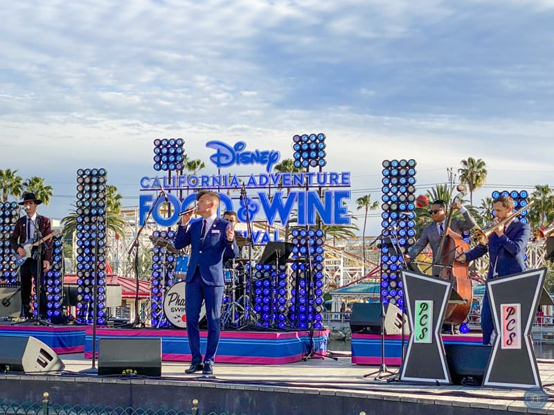 Live music at the 2020 California Adventure Food and Wine Festival.