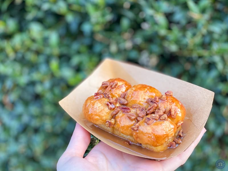 monkey bread at food and wine festival in disneyland 2020