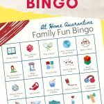 kids activity bingo printable