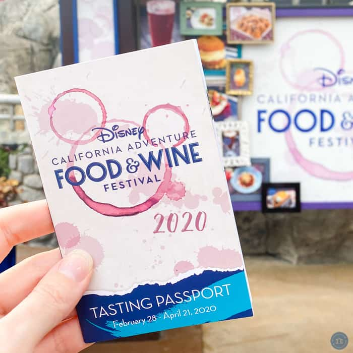 tasting passport at disneyland food and wine festival