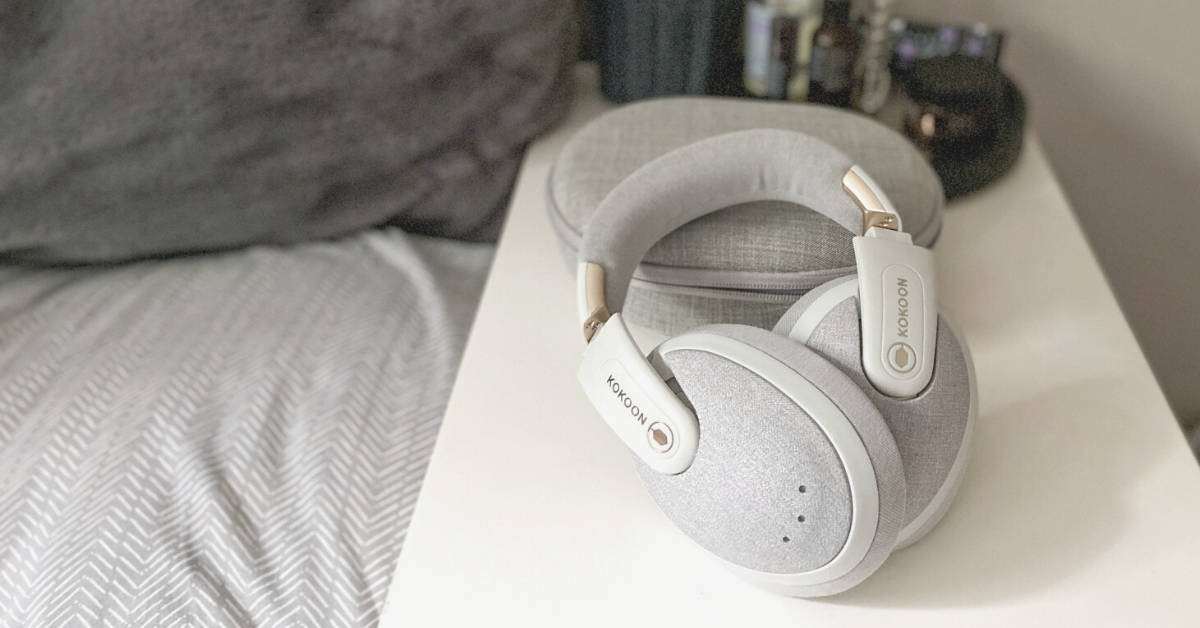 kokoon headphones on bedside table