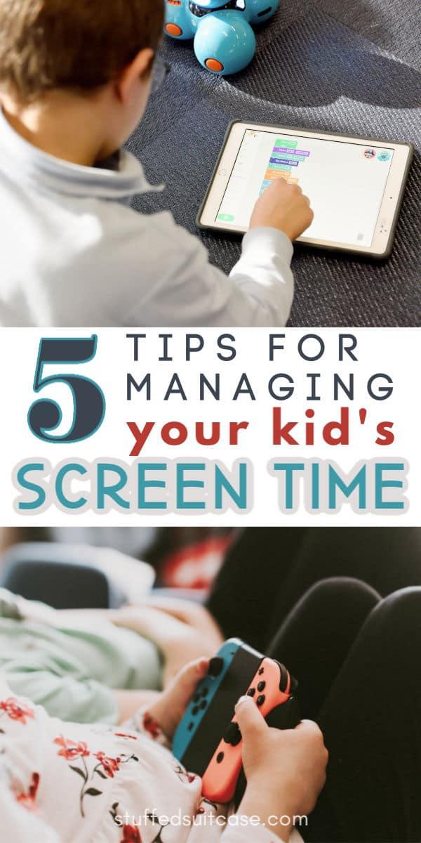 screen time management ideas