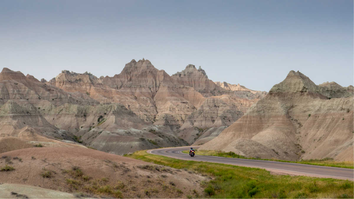 badlands road trip motorcyle
