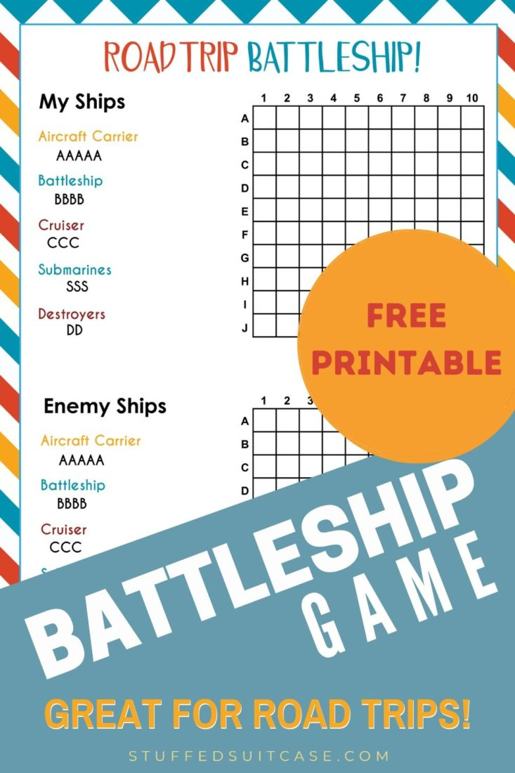 battleship road trip game printable