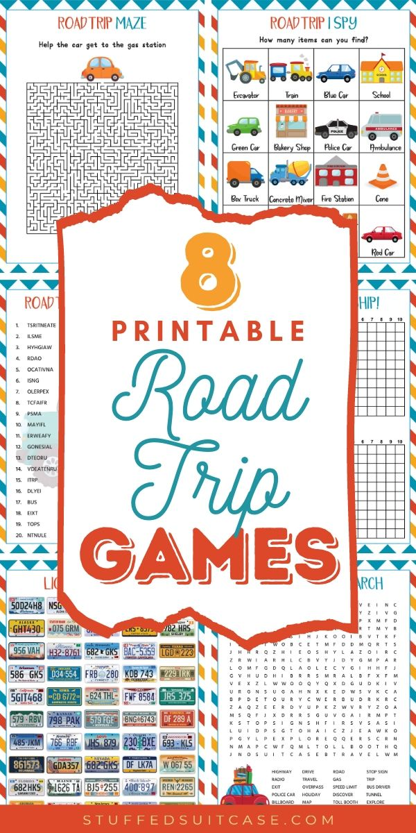 road trip games printables for kids (pin)