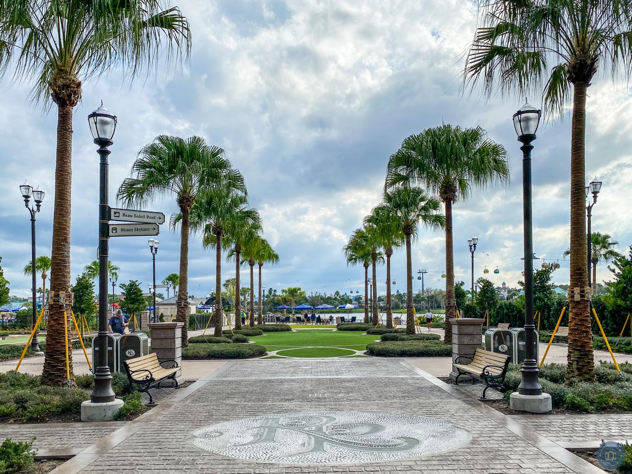courtyard at the Disney World Riviera Resort