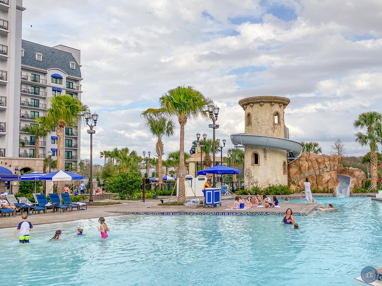 disney riviera hotel pool and waterslide