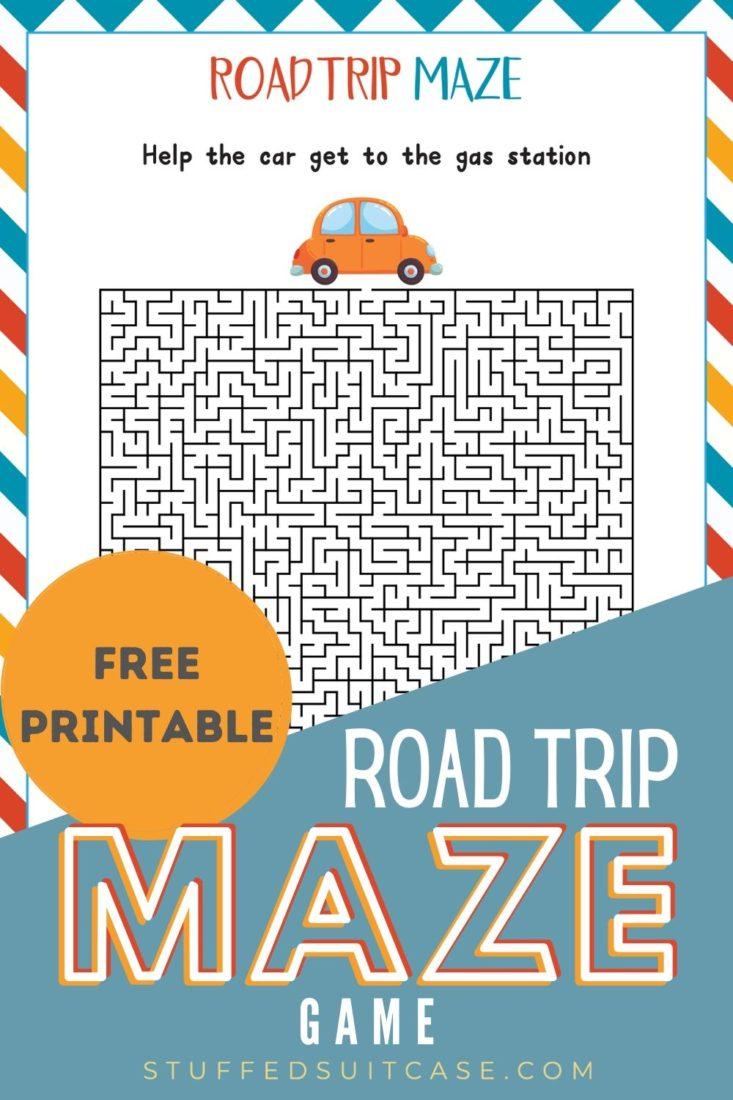 road trip maze printable