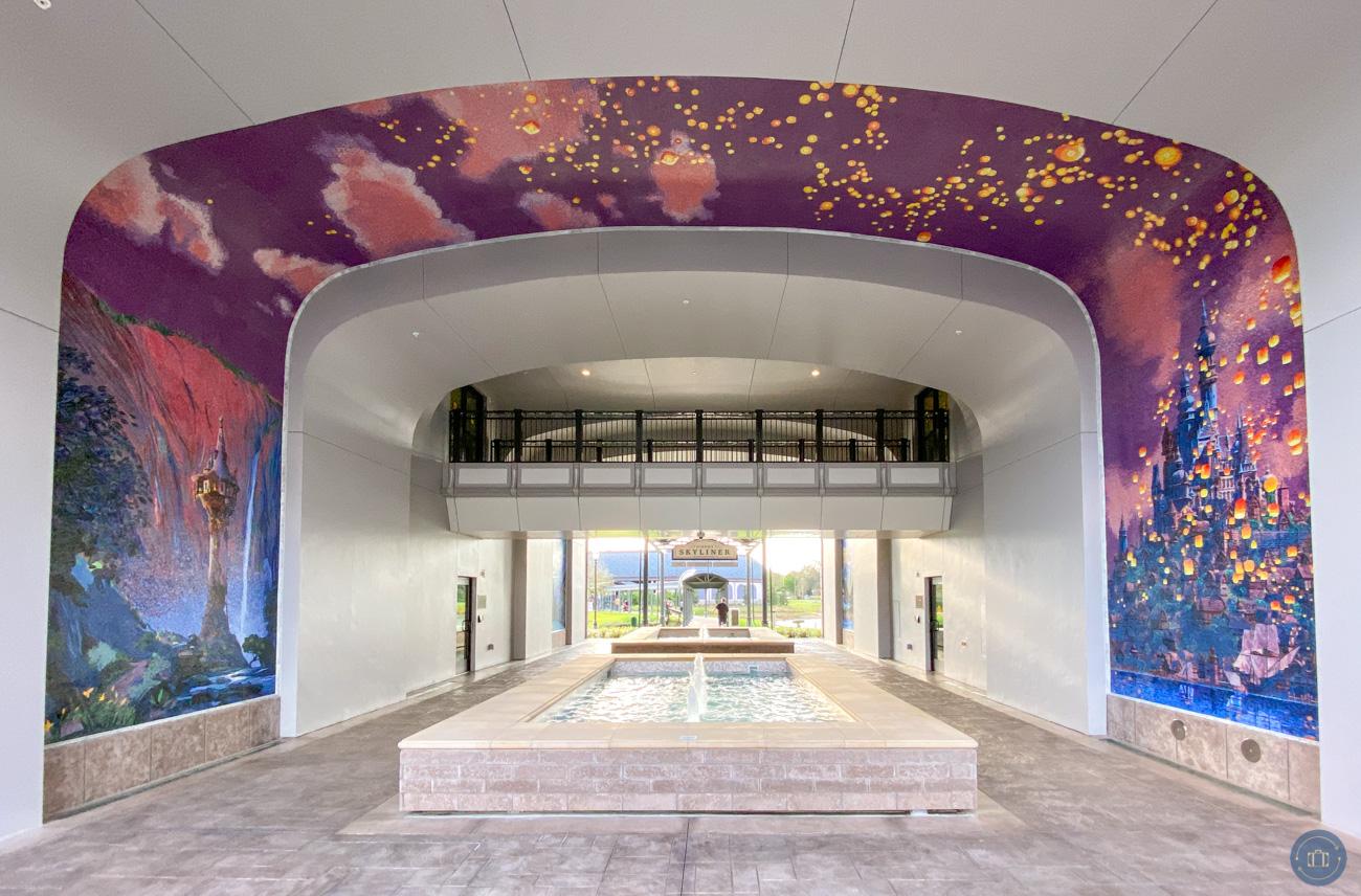 Disney Tangled art mosaic mural at Riviera Resort WDW