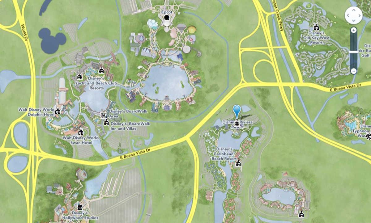 disney riviera resort location map
