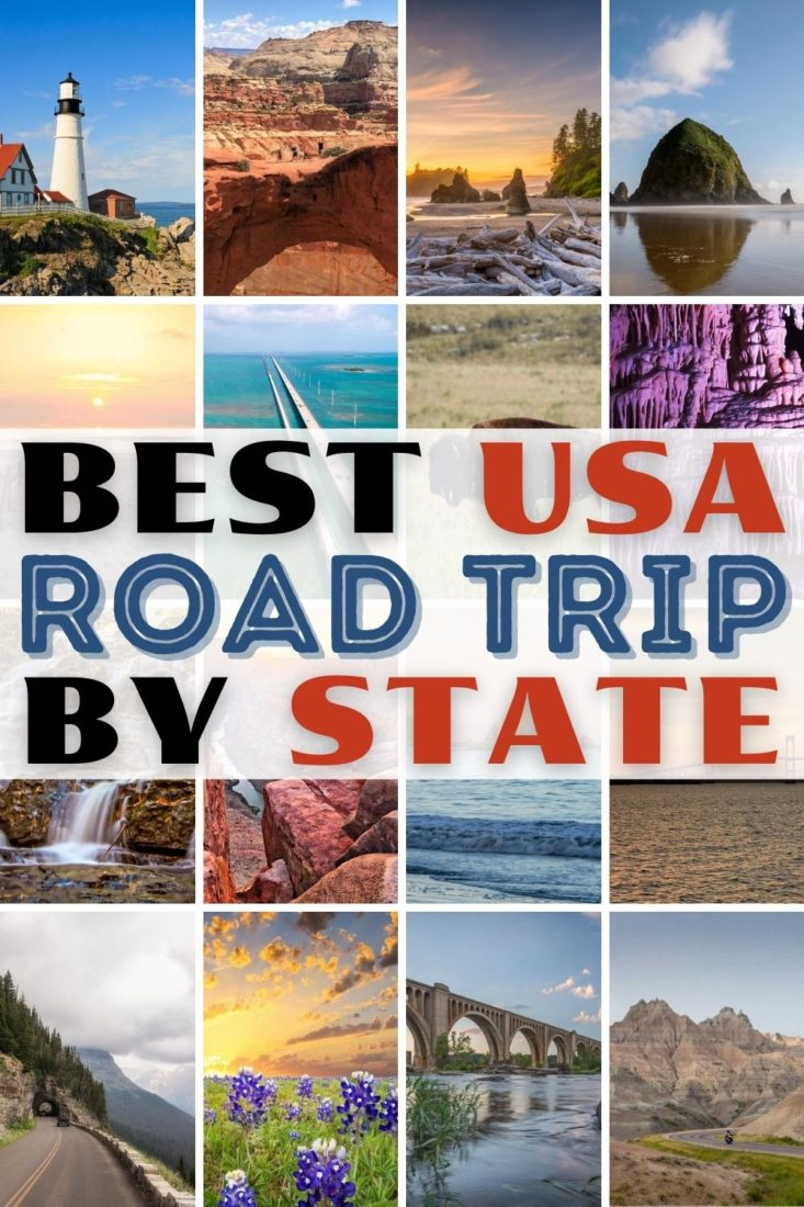 best road trips in usa state by state