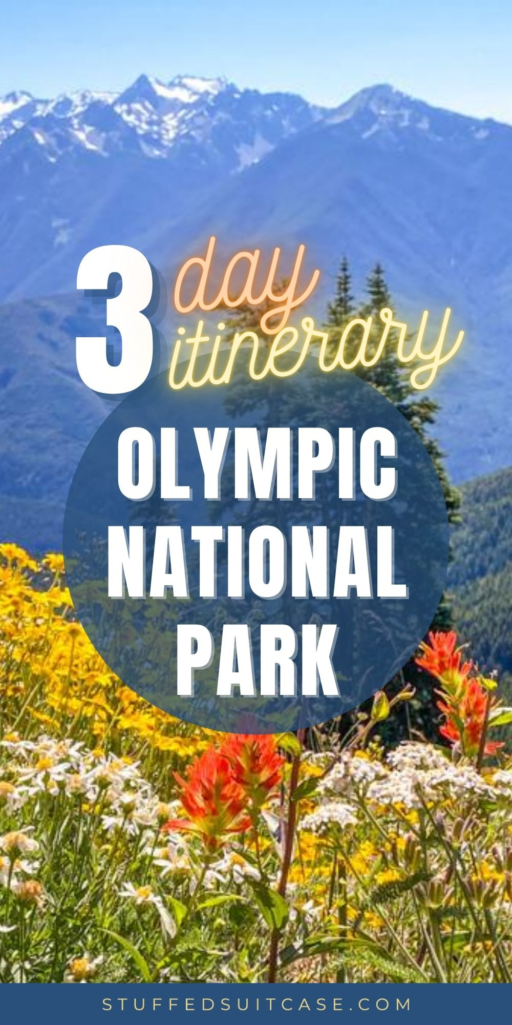 olympic national park itinerary pin image