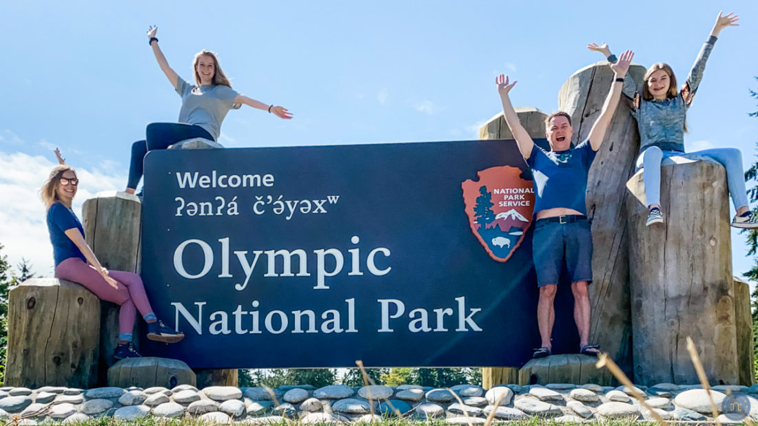 olympic national park visitors welcome sign