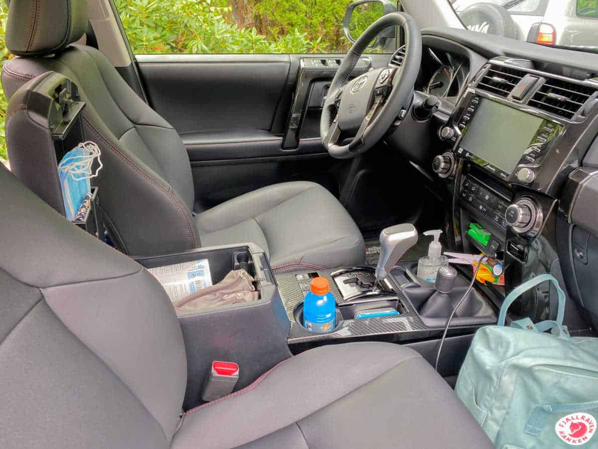 front seat interior of toyota 4runner