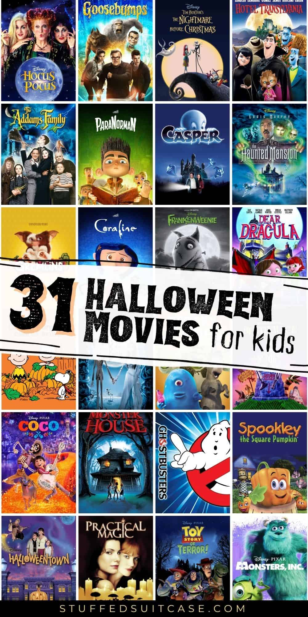 halloween movies collage pinterest image
