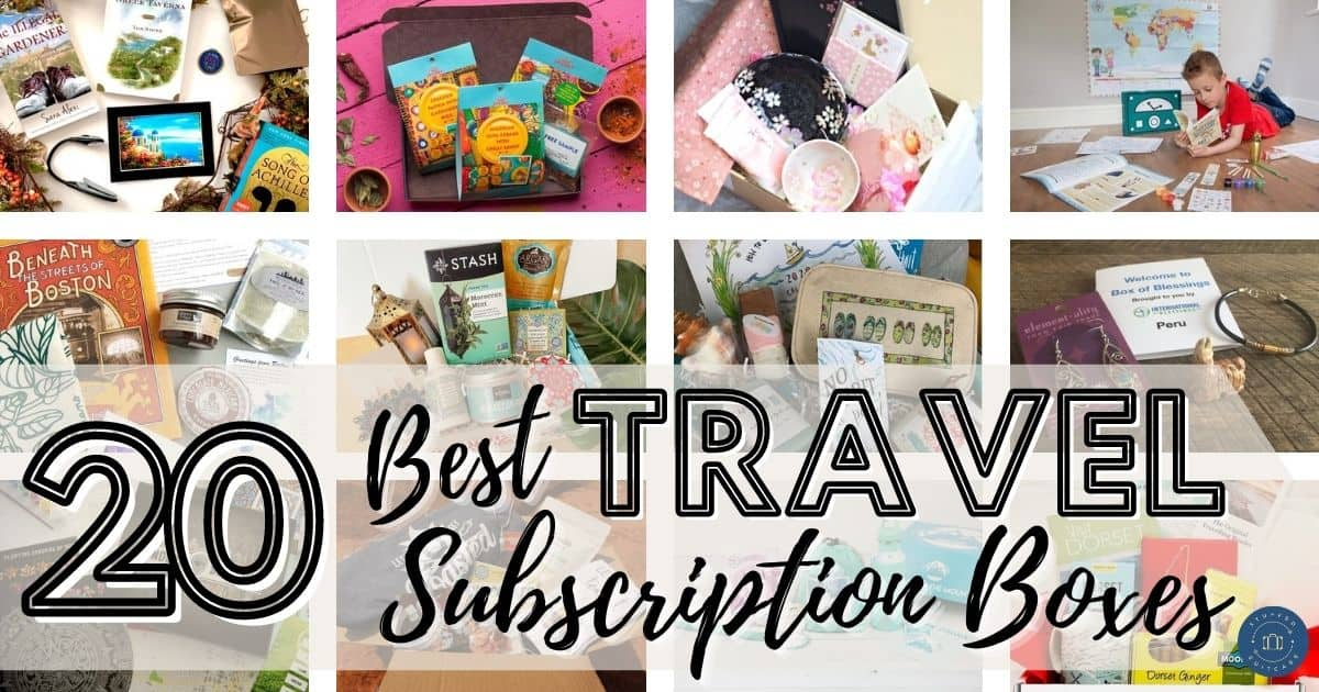 travel subscription box collage