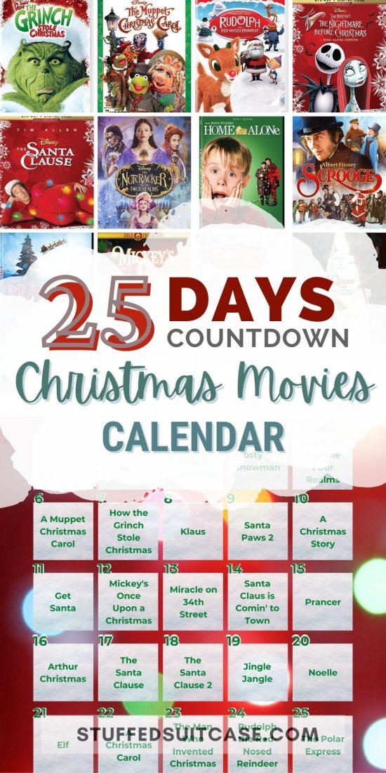 christmas movies countdown advent calendar