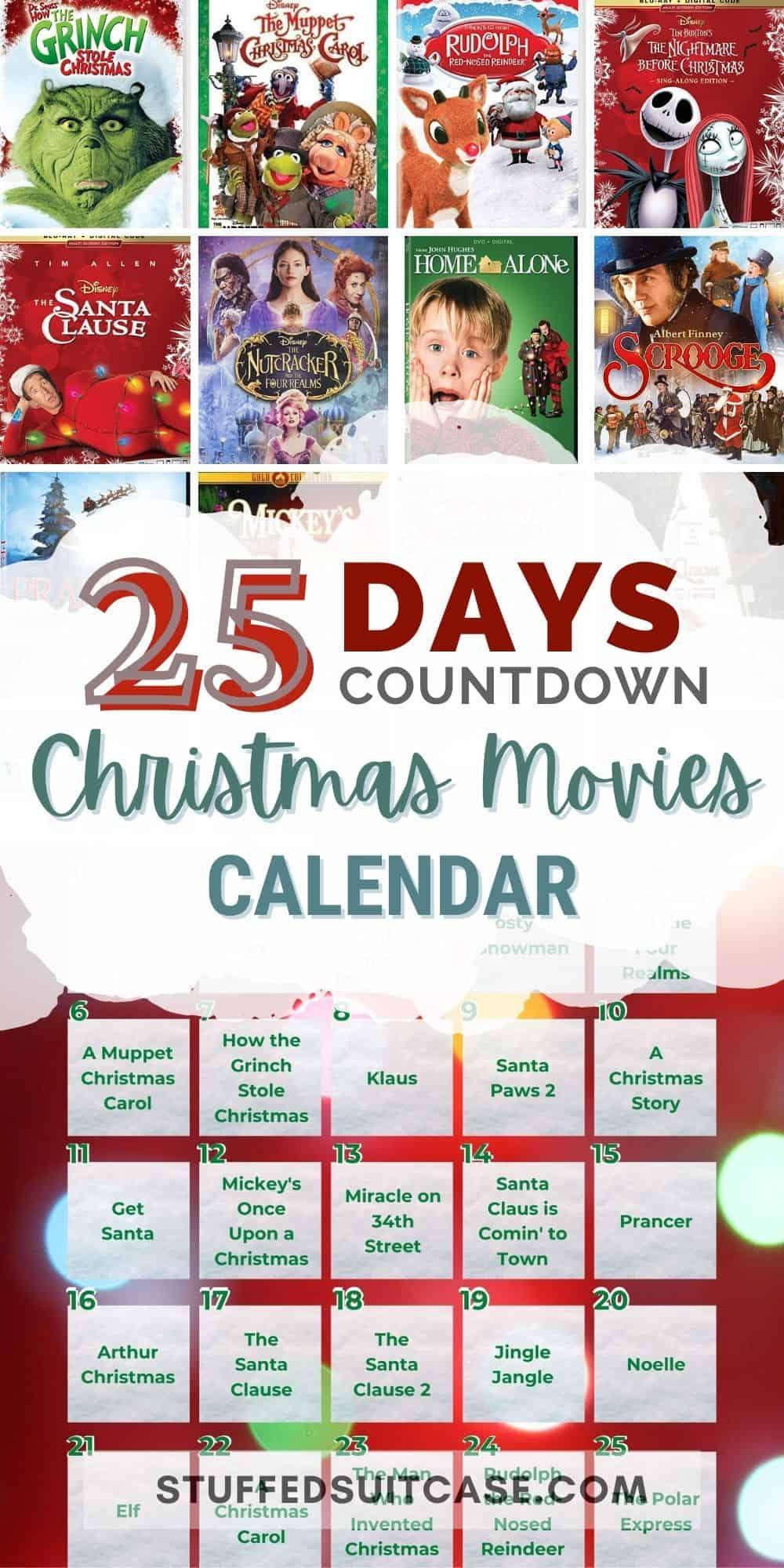 christmas movies for kids calendar pinterest image