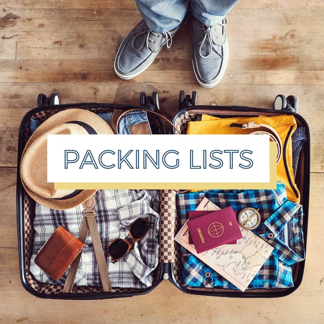 packing lists button open suitcase