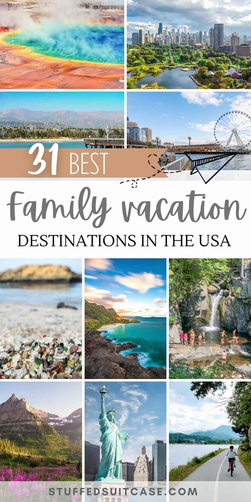 best family vacation spots in the us