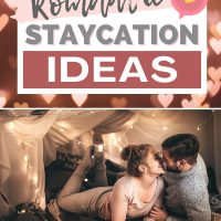 romantic staycation ideas cover with couple