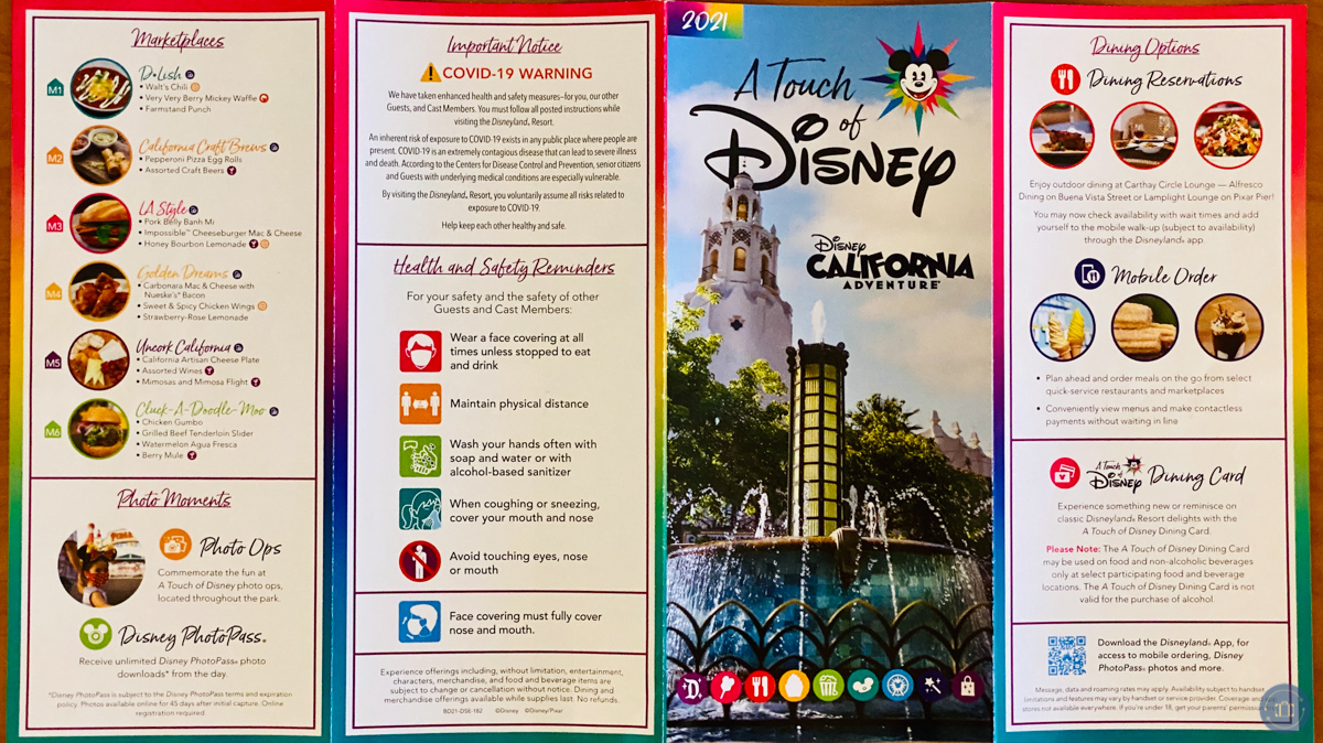 touch of disney park map side 2