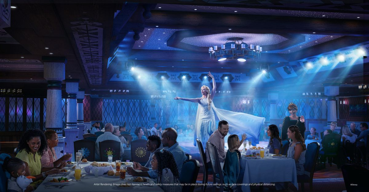 frozen dinner theater on disney wish