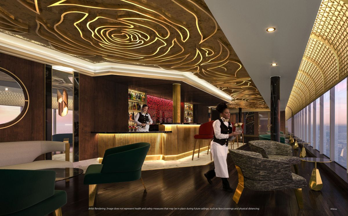 the rose lounge on disney wish cruise ship