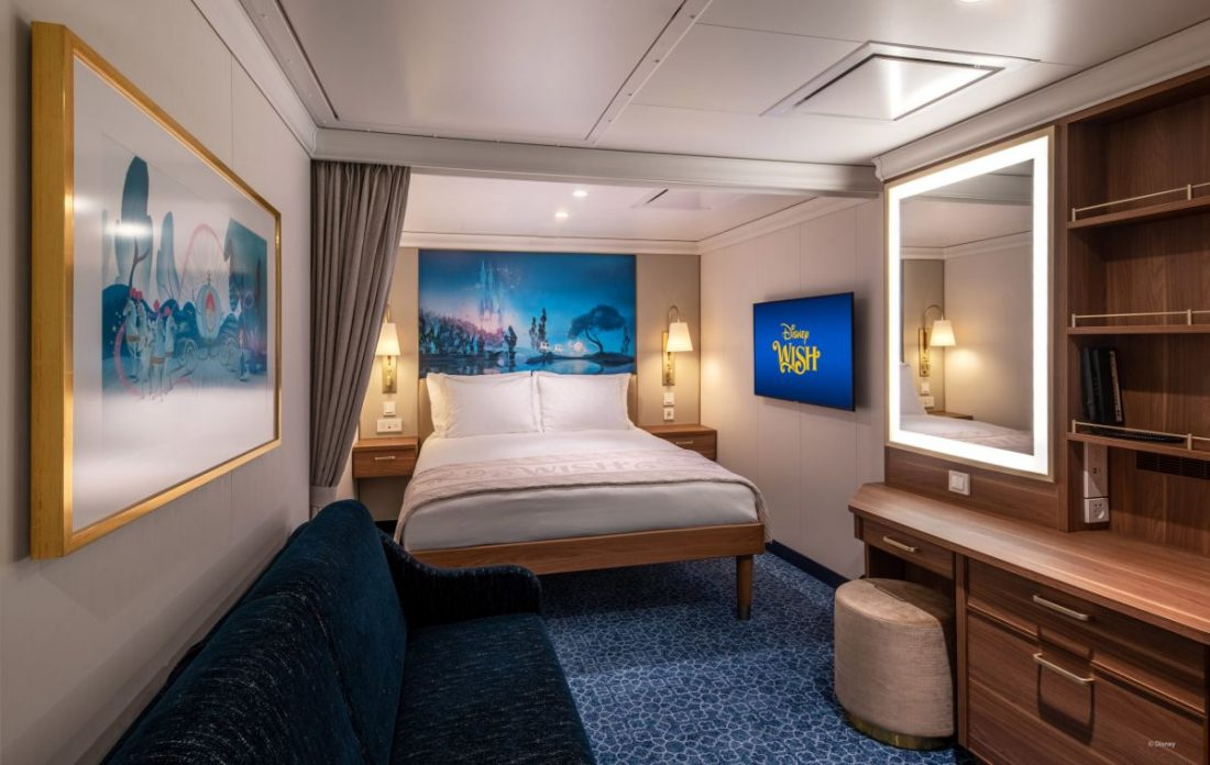 inside stateroom on disney wish