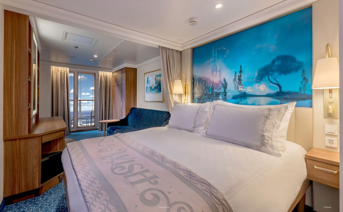 verandah stateroom on disney wish cruise ship