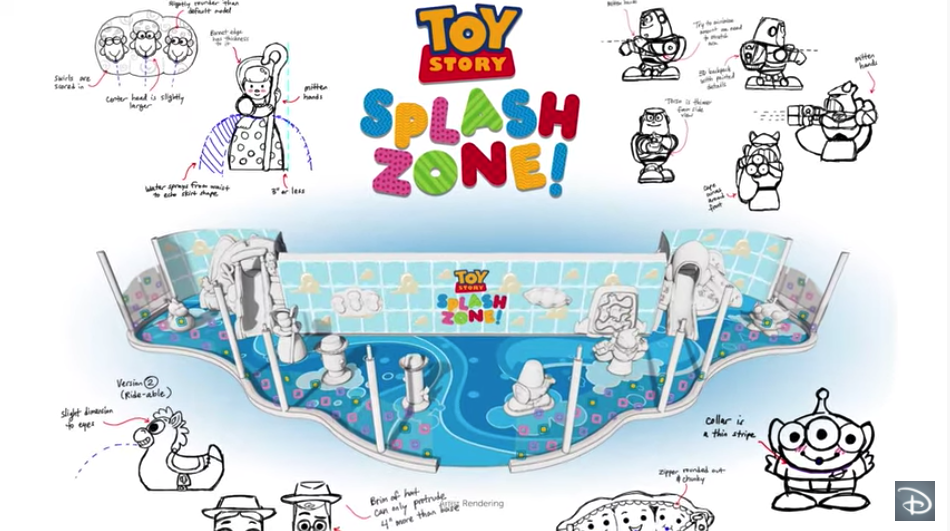 toy story space zone drawing plans for Disney wish