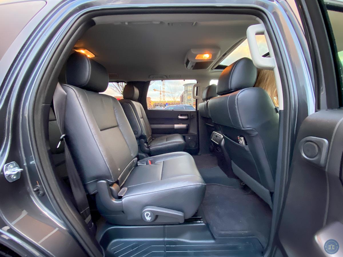 backseat of toyota sequoia suv
