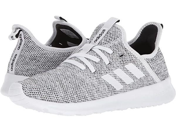 grey adidas tennis shoes