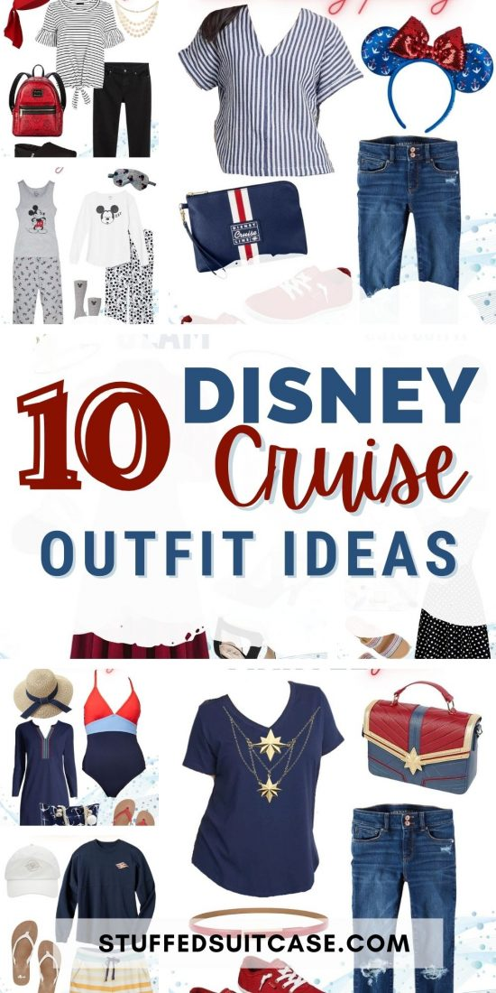 disney cruise outfit ideas collage with text
