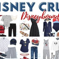 disney cruise outfit collage with text
