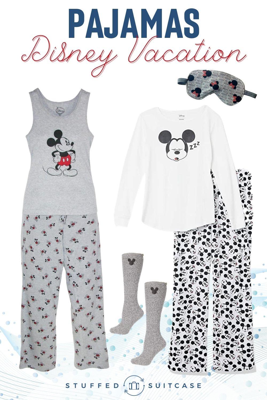 mickey pajama sets