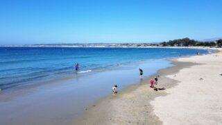 monterey california kids on beach