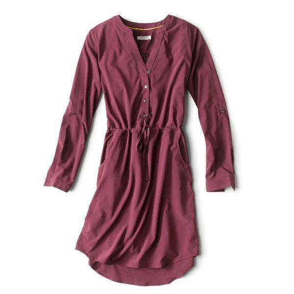 plum colored orvis travel dress