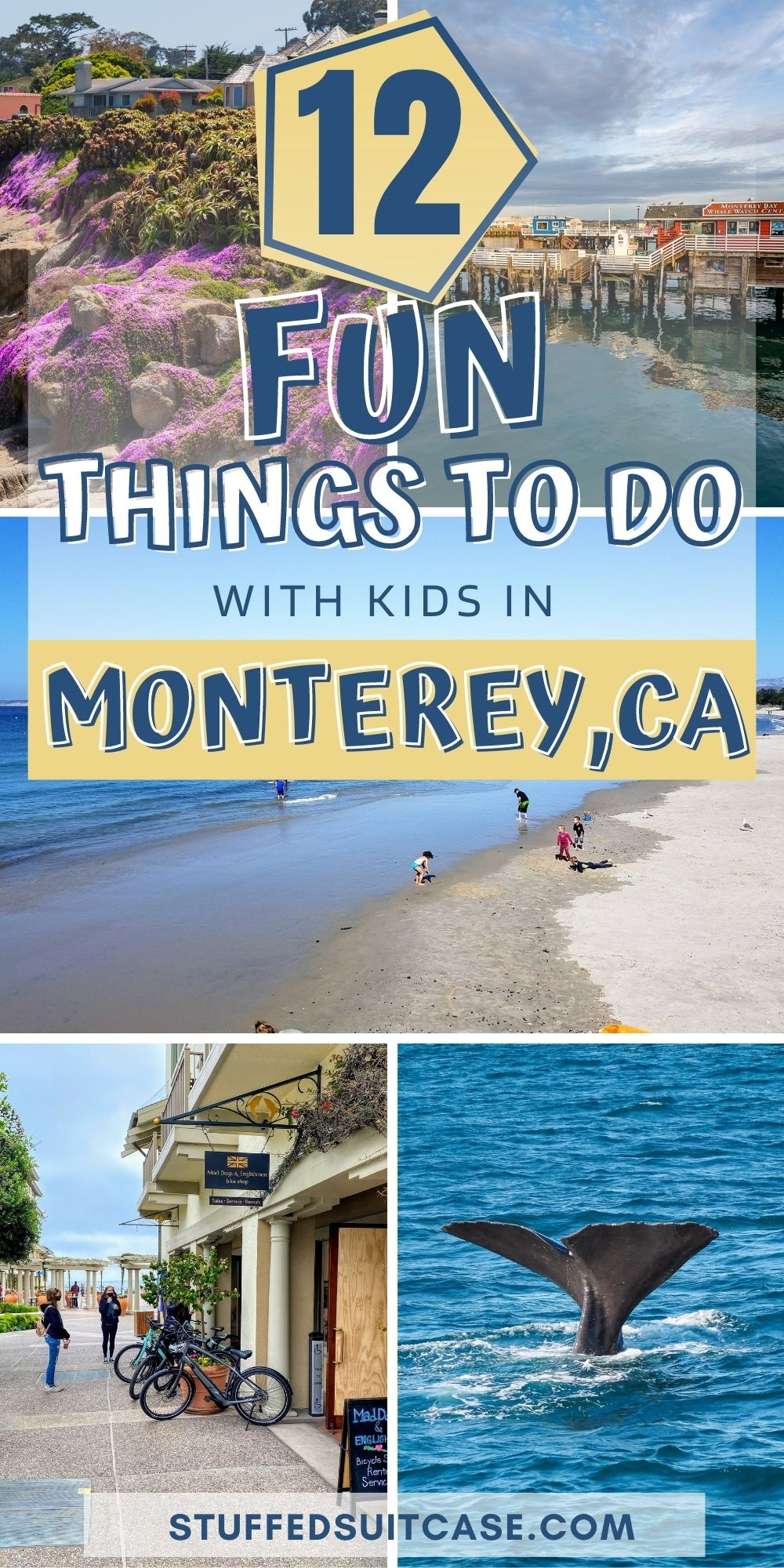 things to do in monterey with kids collage with text